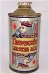 Dawsons Master Ale Low Pro Cone Top Beer Can