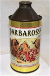 Barbarossa Cone Top Beer Can, Non IRTP, Clean Can