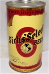 Sicks Select Opening Instruction (Withdrawn Free) Flat Top Beer Can