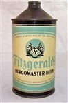 Fitzgeralds Burgomaster Quart Cone Top Beer Can