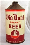Old Dutch Brand Quart Cone Top Beer Can