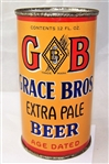 GB Grace Bros. Extra Pale O.I Flat Top Beer Can