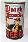 Dutch Lunch Opening Instruction Flat Top Beer Can
