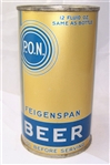 Feigenspan P.O.N....Rare! R-9 Opening Instruction Beer Can