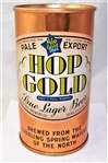 Hop Gold Blue Bar- Impeccable Opening Instruction Beer Can