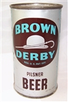 Brown Derby Opening Instruction Flat Top Beer Can