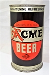 Acme Keglet (Cereal Products) Opening Instruction Flat Top Beer Can