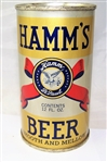 Hamms - Metallic (Smooth and Mellow) Opening Instruction Flat Top Beer Can