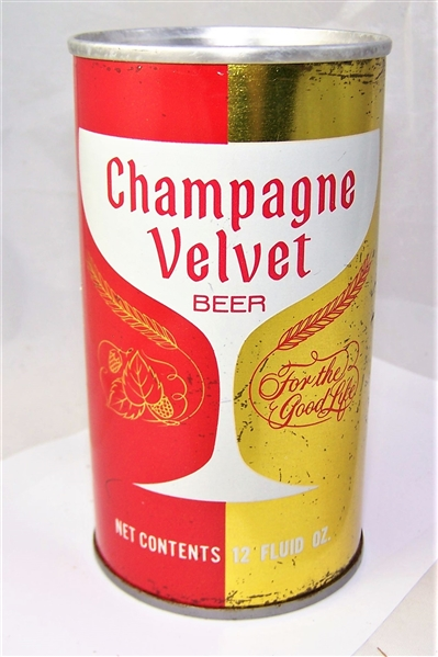 Champagne Velvet Split label Tab Top Beer Can Red/Gold