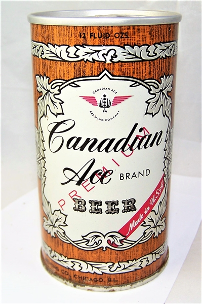 Canadian Ace Fan Tab Beer Can .....Chicago Can