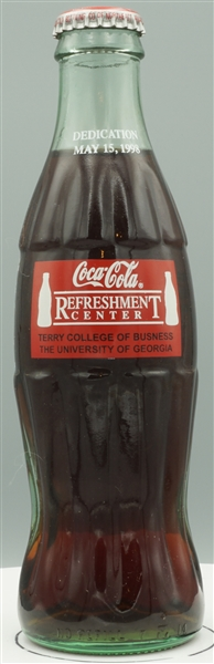 Terry College of Business, University of Georgia dedication, May 15, 1998 Coke bottle