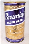 Breunigs Lager Flat Top Beer Can..