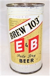 E & B Brew 103 Pale Dry Flat Top Beer Can
