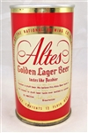 Altes Golden Lager Zip Top (Two Sided Beer can) Bottom Opened