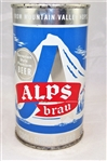 Alps Brau Flat Top Beer Can (Silver Trim)