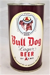 Bull Dog Lager Flat Top Beer can....Minty!