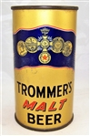 Trommers Malt Opening Instruction Flat Top Beer Can