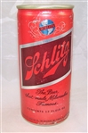 Schlitz Red And Brown Aluminum Test Can