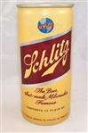 Schlitz Test Can Yellow Aluminum Tab Top Beer Can