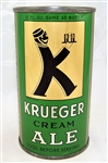 Krueger Cream Ale Opening Instruction Flat Top...Clean!