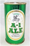 A-1 Ale Flat Top Beer Can, Original example, not a wind tunnel can