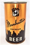 Manhattan 4 Panel Opening Instruction Flat Top Beer Can